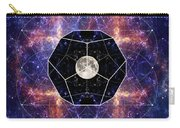 Photo Of The Moon And Sacred Geometry Carry-all Pouch