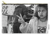 Photography Homage Alfred Eisenstadt Hispanic Girl V For Victory Sign Anti Gulf War Rally Tucson Az Carry-all Pouch