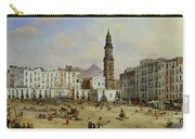 Piazza Mazaniello In Naples Carry-all Pouch by Jean Auguste Bard