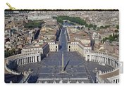 Piazza San Pietro And Colonnaded Square As Seen From The Dome Of Saint Peter's Basilica - Rome, Ital Carry-all Pouch