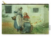 Picking Flowers Carry-all Pouch by Winslow Homer