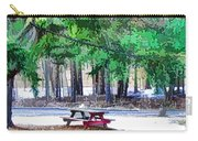 Picnic Area With Wooden Tables 3 Carry-all Pouch