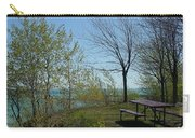 Picnic Table By The Lake Photo Carry-all Pouch