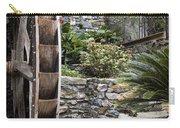 Pictueresque Waterwheel In Cinqueterre Garden Carry-all Pouch