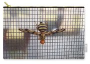 Picture Winged Bee Fly On Screen     Spring      Indiana Carry-all Pouch