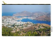 Picturesque View Of Skala Greece On Patmos Island Carry-all Pouch