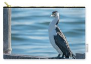 Pied Cormorant On Old Wharf Carry-all Pouch