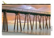 Pier On Beach During Sunrise, Playas De Carry-all Pouch