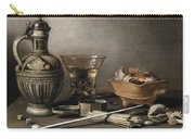 Pieter Claesz - Still Life With A Stoneware Jug, Berkemeyer, And Smoking Utensils 1640 Carry-all Pouch