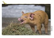Piglet Eating Hay Carry-all Pouch
