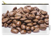 Pile Of Coffee Beans Isolated On White Carry-all Pouch