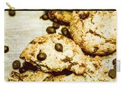 Pile Of Crumbled Chocolate Chip Cookies On Table Carry-all Pouch