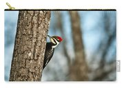 Pileated Billed Woodpecker Pecking 1 Carry-all Pouch