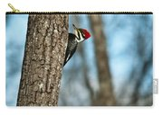 Pileated Billed Woodpecker Pecking 2 Carry-all Pouch