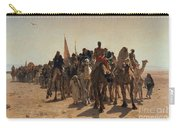 Pilgrims Going To Mecca Carry-all Pouch by Leon Auguste Adolphe Belly
