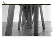 Black And White Pier Carry-all Pouch
