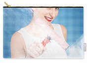 Pin Up Cleaning Lady Washing Glass Shower Door Carry-all Pouch