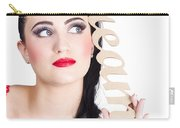 Pin Up Girl Daydreaming  Carry-all Pouch