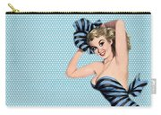 Pin Up Girl Square 2 Carry-all Pouch