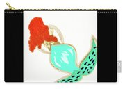 Pin Up Redhead Mermaid Carry-all Pouch