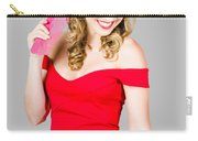 Pin-up Styled Fashion Model With Classic Hairstyle Carry-all Pouch