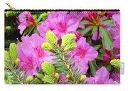 Pine Conifer Art Print Pink Azaleas Flower Garden Baslee Troutman Carry-all Pouch
