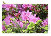 Pine Conifer Pink Azaleas 30 Summer Azalea Flowers Giclee Art Prints Baslee Troutman Carry-all Pouch