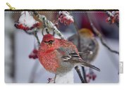 Pine Grosbeak Male Carry-all Pouch