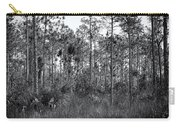Pine Land In B/w Carry-all Pouch by Rudy Umans