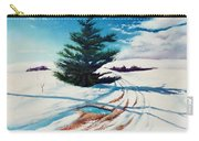 Pine Tree Along The Country Road Carry-all Pouch