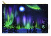 Pine Trees In Aurora Borealis Carry-all Pouch