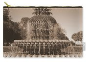 Pineapple Fountain Charleston S C Sepia Carry-all Pouch