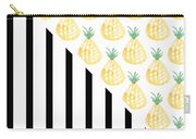 Pineapples And Stripes Carry-all Pouch