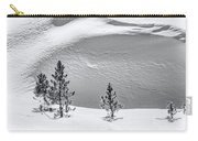 Pines In Snow Drifts Black And White Carry-all Pouch