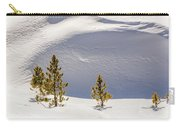 Pines In The Snow Drifts Carry-all Pouch