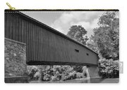 Pinetown Bushong's Covered Bridge Black And White Carry-all Pouch