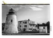 Piney Point Lighthouse - Mayland - Black And White Carry-all Pouch