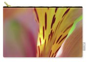 Pink Alstroemeria Macro Carry-all Pouch