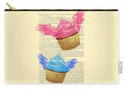 Pink And Blue Cupcakes Vintage Dictionary Art Carry-all Pouch