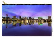 Pink And Blue Hue Evening Sky Over Portland Oregon Carry-all Pouch