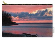 Pink And Blue Sunset Carry-all Pouch