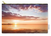 Pink And Gold Morning Zen - Toronto Skyline Impressions Carry-all Pouch