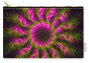 Pink And Green Fractal Sun Carry-all Pouch