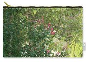 Pink And Green Path Carry-all Pouch