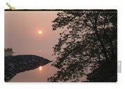 Pink And Green Summer - Soft Misty Sunrise On The Lake Carry-all Pouch
