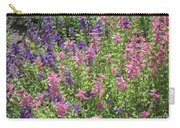 Pink And Lavender Carry-all Pouch