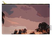 Pink And Mauve Sky Abstract Carry-all Pouch