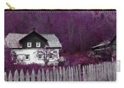 Pink And Purple Enchanted Cottage Carry-all Pouch