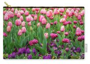 Pink And Purple Tulips At The Spring Floriade Festival Carry-all Pouch