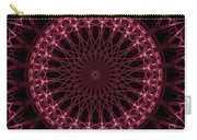 Pink And Red Glowing Mandala Carry-all Pouch